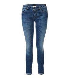 Blue Mid-Rise Jeans