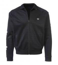 Black Taped Track Jacket