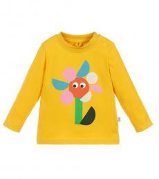 Baby Girls Yellow Graphic T-Shirt