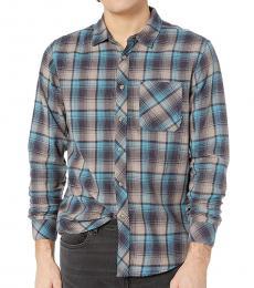 Dark Blue Freemont Flannel Shirt