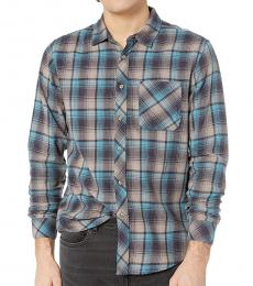 Billabong Dark Blue Freemont Flannel Shirt