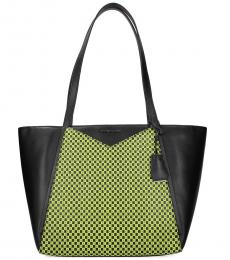 Black Yellow Whitney Large Tote