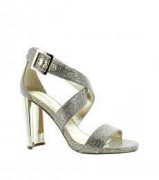 Michael Kors Silver Sand Shia Glitter Heels