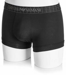 Emporio Armani Black Cotton Boxer Trunk Briefs