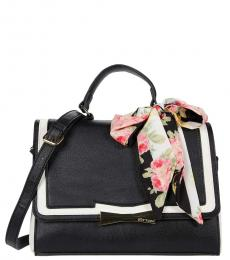 Betsey Johnson Black Celyn Color-Block Small Satchel