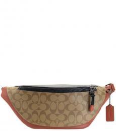 Coach Tan Terracotta Colorblock Warren Belt Bag