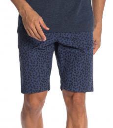 Navy Blue Animal Print Shorts
