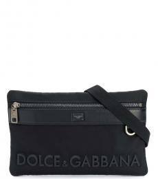 Dolce & Gabbana Black Sicily Belt Bag