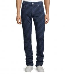 Dark Blue Logo Relaxed Skinny Jeans