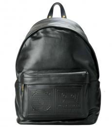 Versus Versace Black Solid Large Backpack