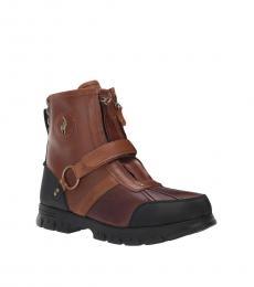 Ralph Lauren Briarwood Tan Conquest Boots