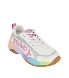 Juicy Couture Little Girls White Multi Beverly Sneakers