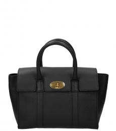 Black Flap Cover Small Satchel