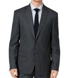 DKNY Dark Grey Wool Double Button Jacket