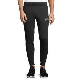 Emporio Armani Black Logo Jogger Pants