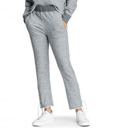 Rag And Bone Heather Grey Lace-Up Sweatpants
