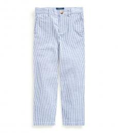 Little Boys Blue Stretch Seersucker Skinny Pants