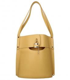 Chloe Yellow Aby Large Bucket Bag