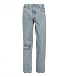 Diesel Light Blue Dagh Distressed Straight Jeans