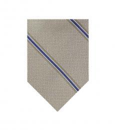 Michael Kors Blue Beige Classic Stripe Tie