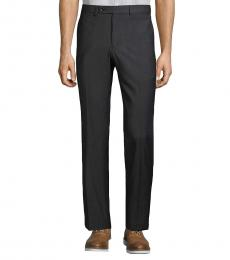 Calvin Klein Black Fit Flat-Front Pants
