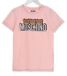 Moschino Boys Pink Teddy T-Shirt
