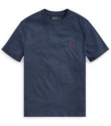 Ralph Lauren Little Boys Fresco Blue Heather Crewneck T-Shirt