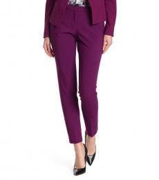Calvin Klein Purple Mid Rise Slim Leg Pants