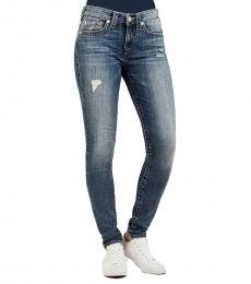 True Religion Blue Curvy Skinny Fossil Silk Jeans