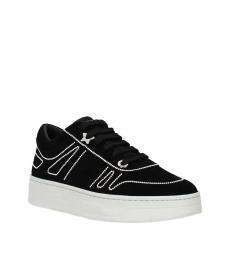 Jimmy Choo Black Hawaii Low Top Sneakers