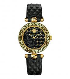 Versace Black Gold Vanitas Watch