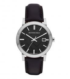 Burberry Black Silver Logo Watch