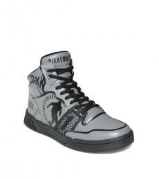 Bikkembergs Grey Sigger Hi Top Sneakers