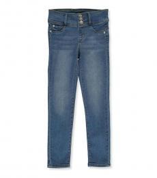 DKNY Little Girls Bleeker Button Jeans