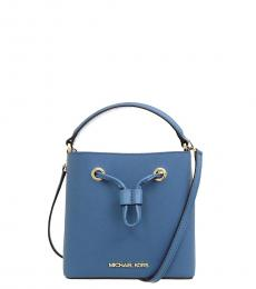 Michael Kors Blue Suri Mini Bucket Bag