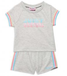 Juicy Couture 2 Piece T-Shirt/Shorts Set (Baby Girls)
