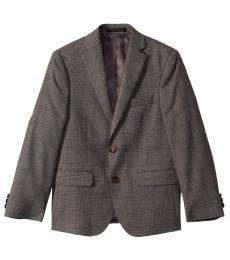 Ralph Lauren Boys Grey Plaid Classic Suit Jacket