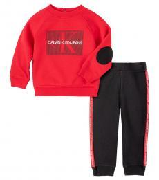 Calvin Klein 2 Piece Top/Pants Set (Baby Boys)