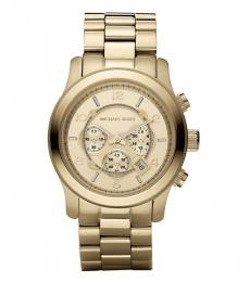 Michael Kors Golden Chronograph Round Dial Watch