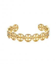 Tory Burch Gold Double T Logo Cuff Bracelet