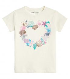 J.Crew Little Girls Sea Treasures Heart Graphic T-Shirt