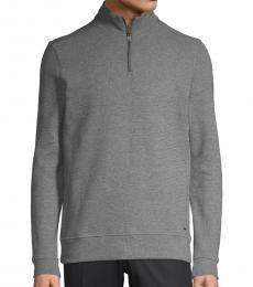 Hugo Boss Grey Sidney Zipper Pullover