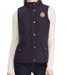 Ralph Lauren Navy Blue Quilted Vest Jacket