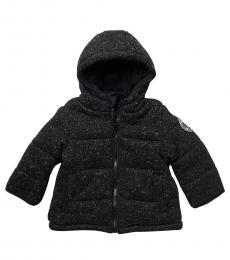 DKNY Baby Boys Heather Charcoal Marled Knit Climb Jacket
