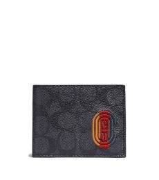 Coach Charcoal Signature Logo Wallet