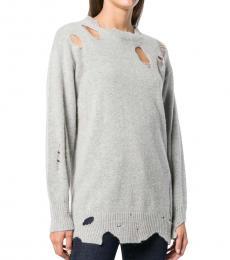 Diesel Gray Oversize Sweater