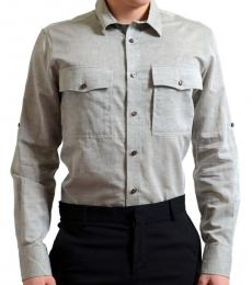 Grey Roll Up Sleeve Shirt