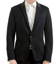 Black One Button Blazer