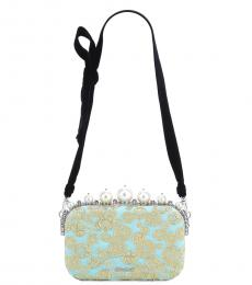 Aqua Embellished Clutch