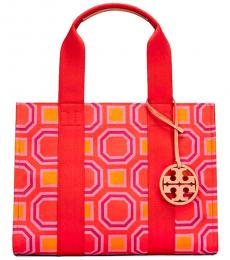 Vivid Orange Octagon Large Tote
